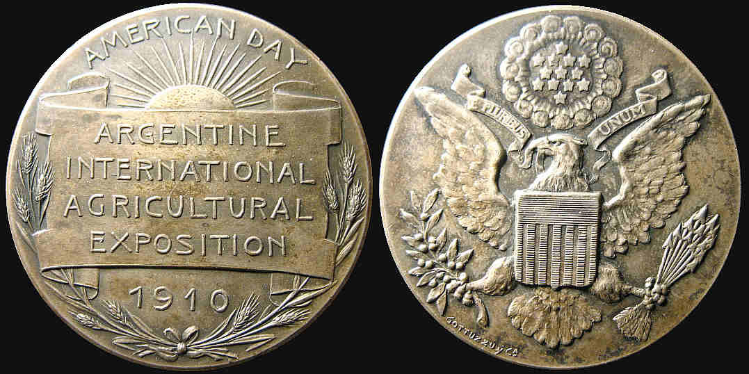 Argentina International Agricultural Exposition 1910 American Day medal