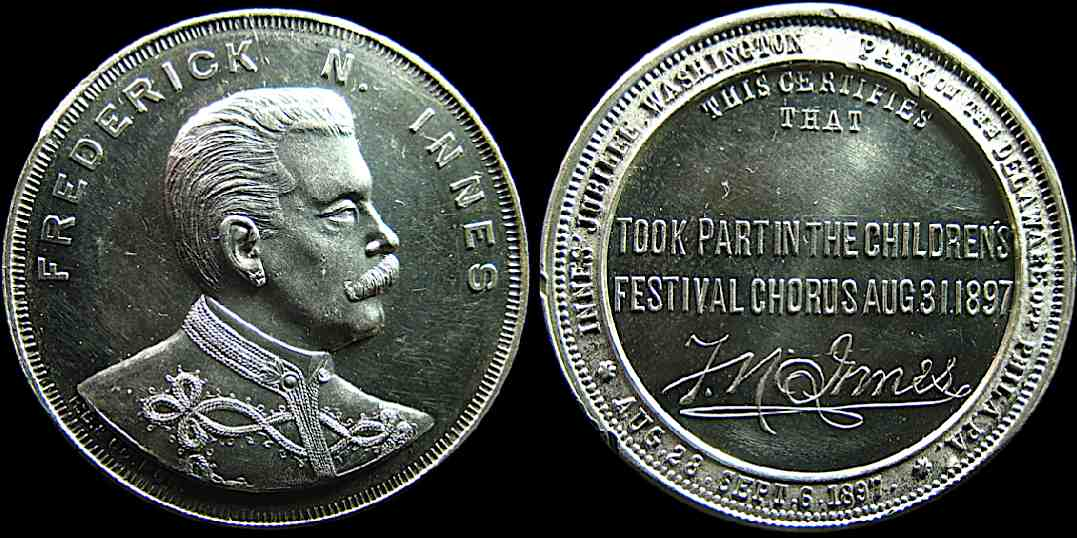 Frederick Innes Childrens Festival chorus participation medal
