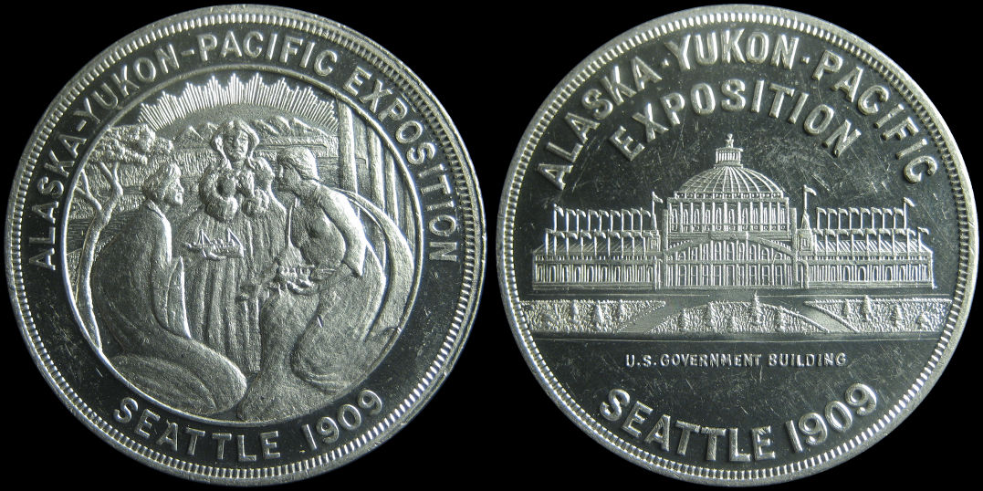 1909 Alaska Yukon Pacific Exposition U. S. Government Building Medal