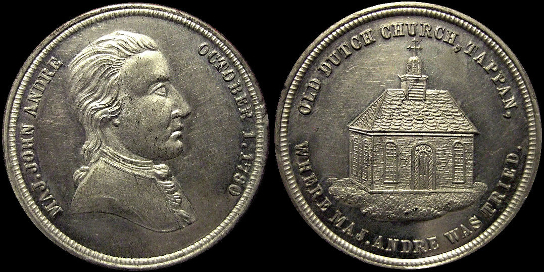 John Andre Old Dutch Church Tappan 1780 Medal