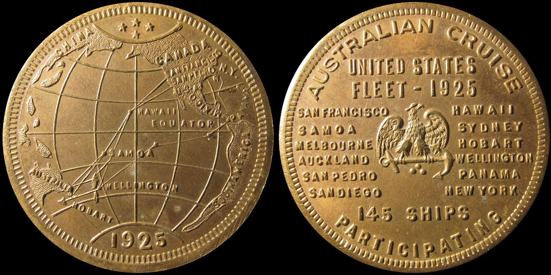 Australian Cruise United States Fleet 145 Ships Participating Medal