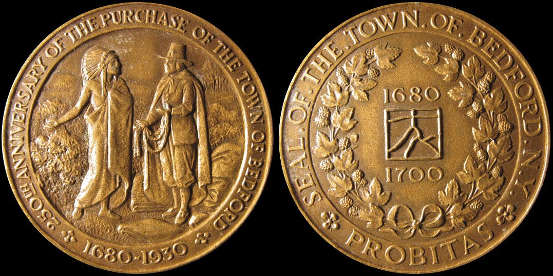 Bedford New York 250th Anniversary of the Purchase of Town Medal