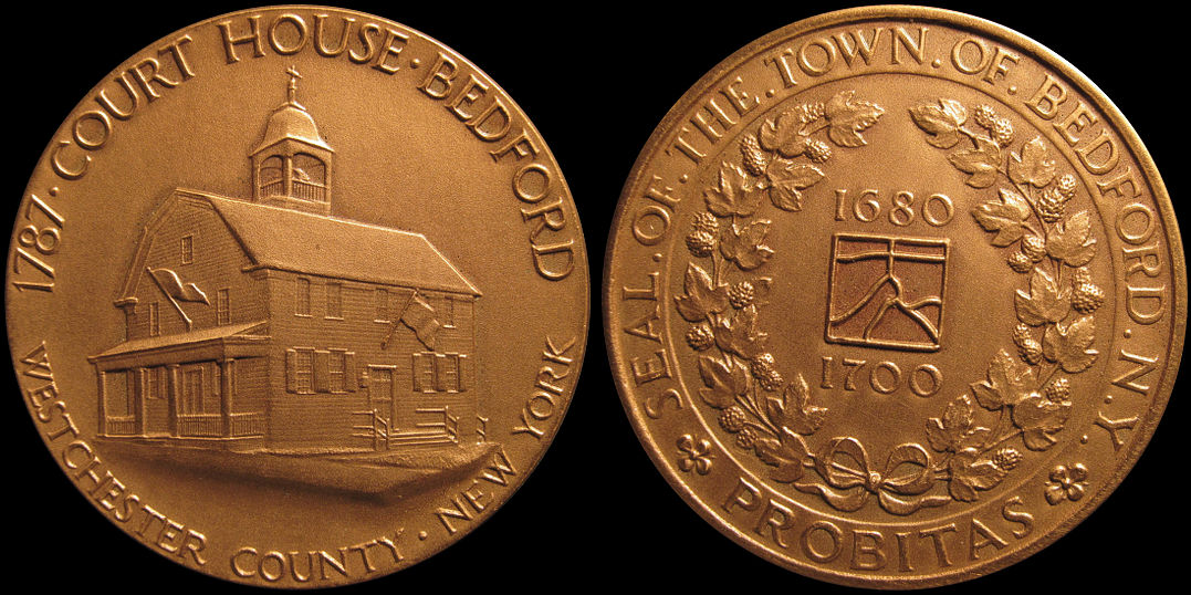 Town of Bedford New York Court House Westchester County Medal