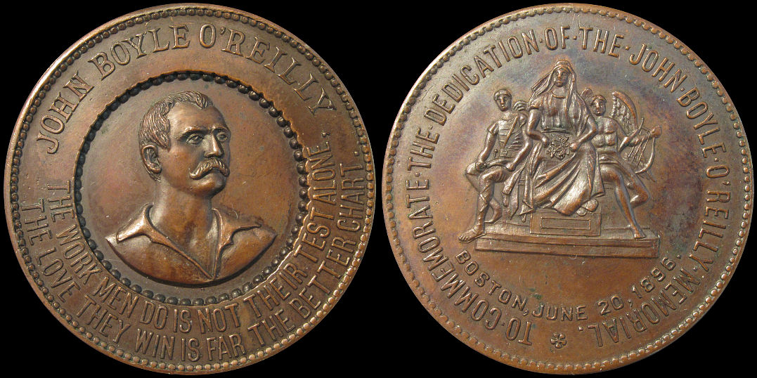 John Boyle OReilly Memorial Boston June 1896 Medal