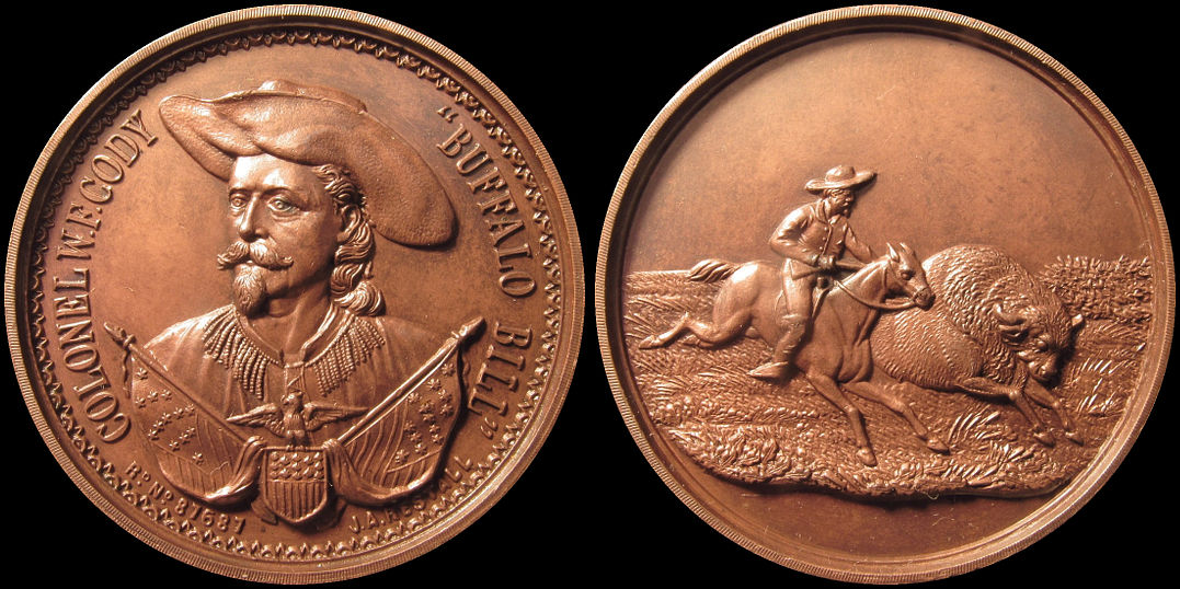 Colonel Buffalo Bill Cody William Frederick J. A. Restall Medal