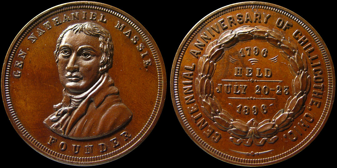 Chillicothe Centennial Anniversary 1896 Nathaniel Massie Medal