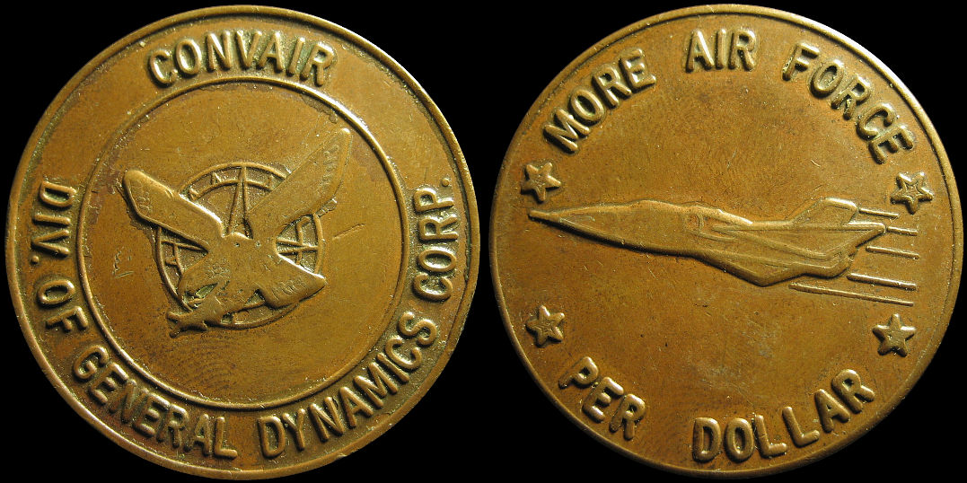 Convair More Air Force Per Dollar General Dynamics Medal