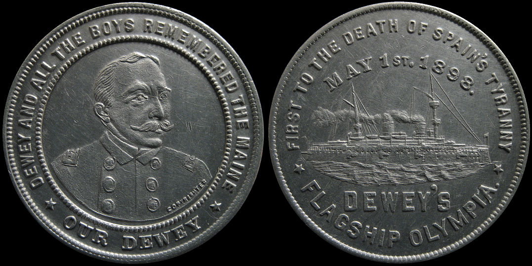 Our Dewey Remember the Maine and Flagship Olympia Medal