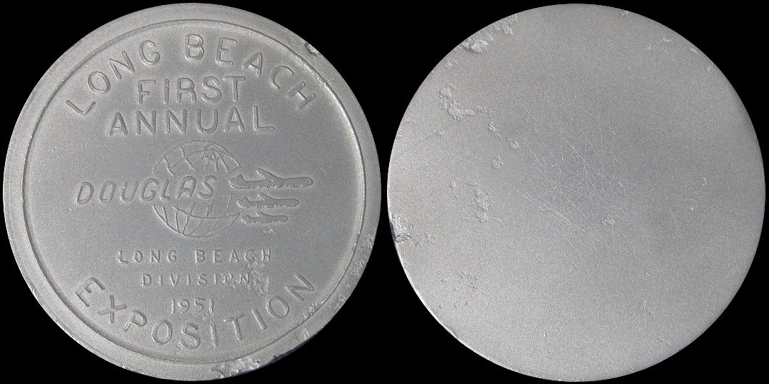 Douglas Aircraft 1951 Long Beach First Annual Exposition Medal