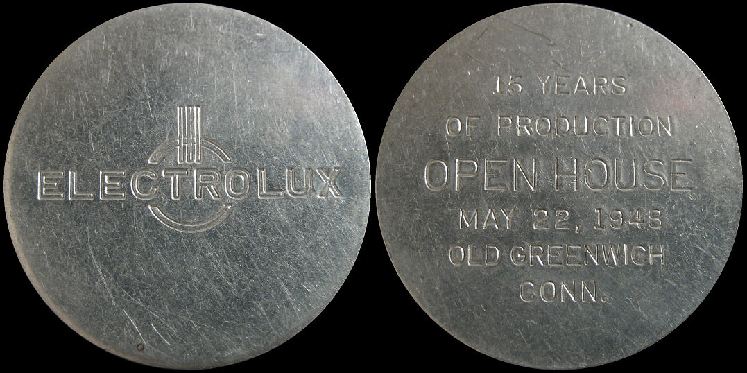 Electrolux 15 Years Of Production Open House 1948 Old Greenwich Token