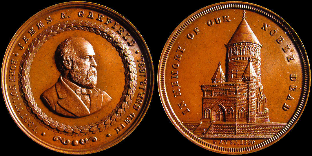 James Garfield Assassinated 1881 Memory of Our Noble Dead Medal