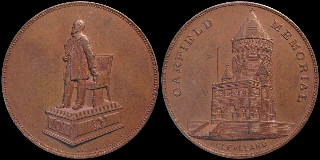 Garfield Memorial Cleveland Ohio Lake View Cemetery Medal