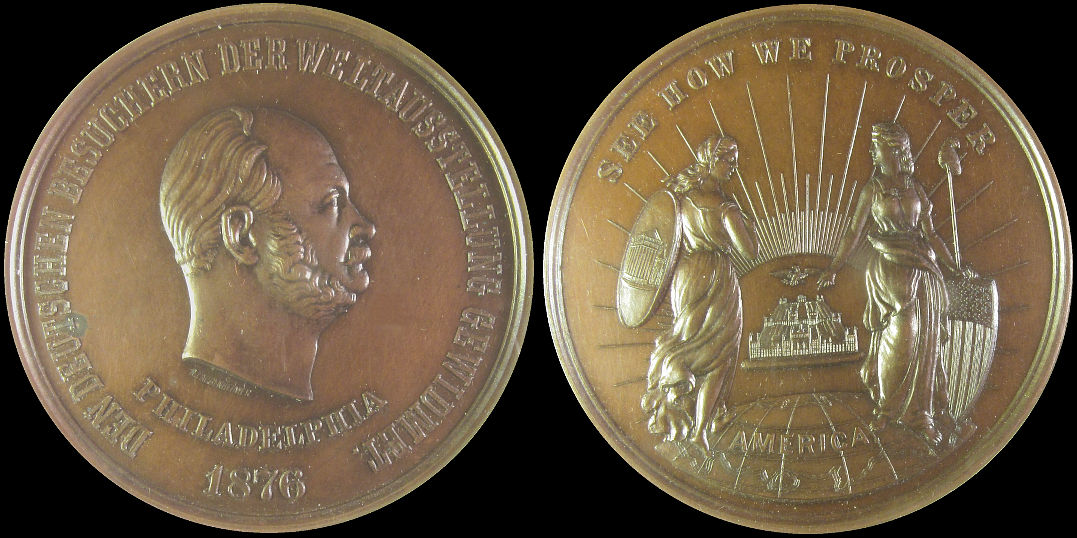 German See How We Prosper 1876 Philadelphia Exposition medal
