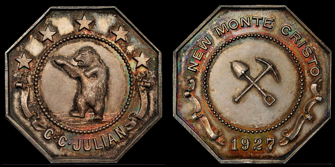 C. C. Julian 1927 New Monte Cristo Dancing Bear Medal