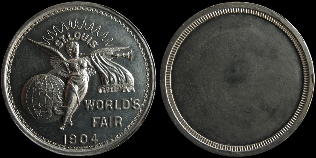 St. Louis Worlds Fair 1904 Uniface Krueger #1269 Medal