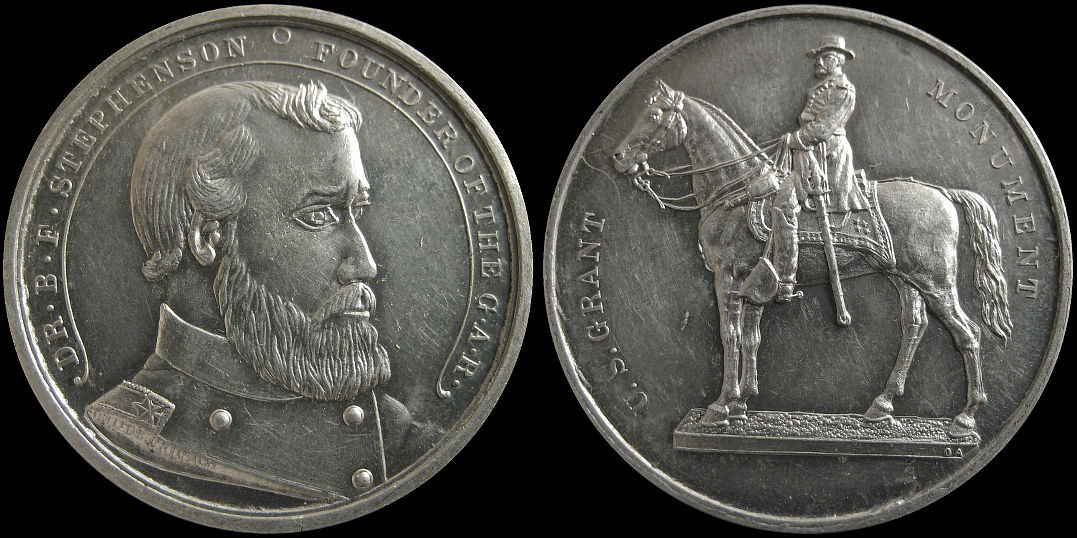 Stephenson Founder Grand Army of the Republic U. S. Grant Medal