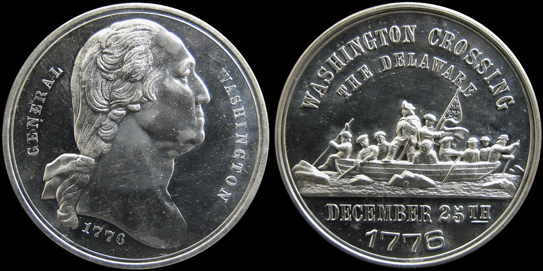 General Washington Crossing the Delaware 1776 Medal