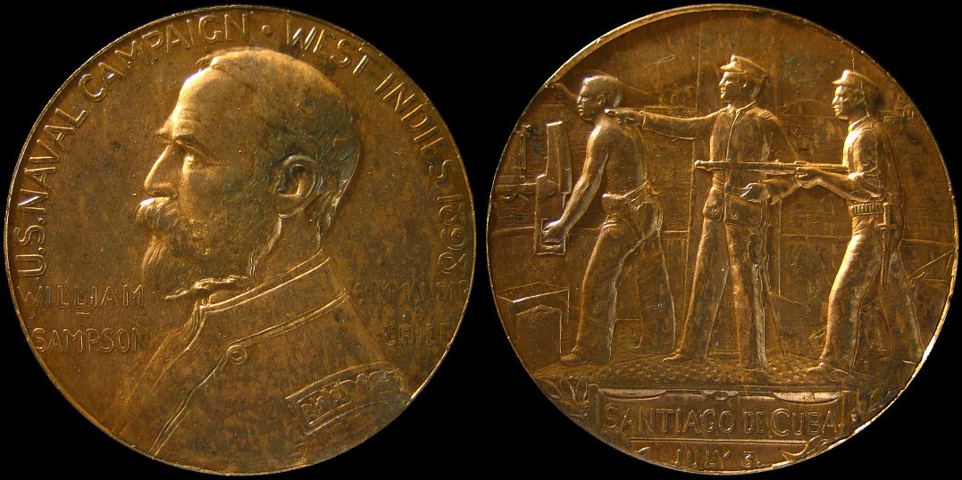 Naval Campaign West Indies 1898 William Sampson Medal