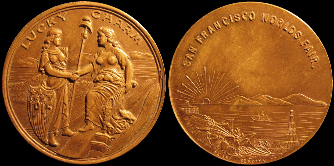 Lucky Charm San Francisco Panama Pacific Worlds Fair 1915