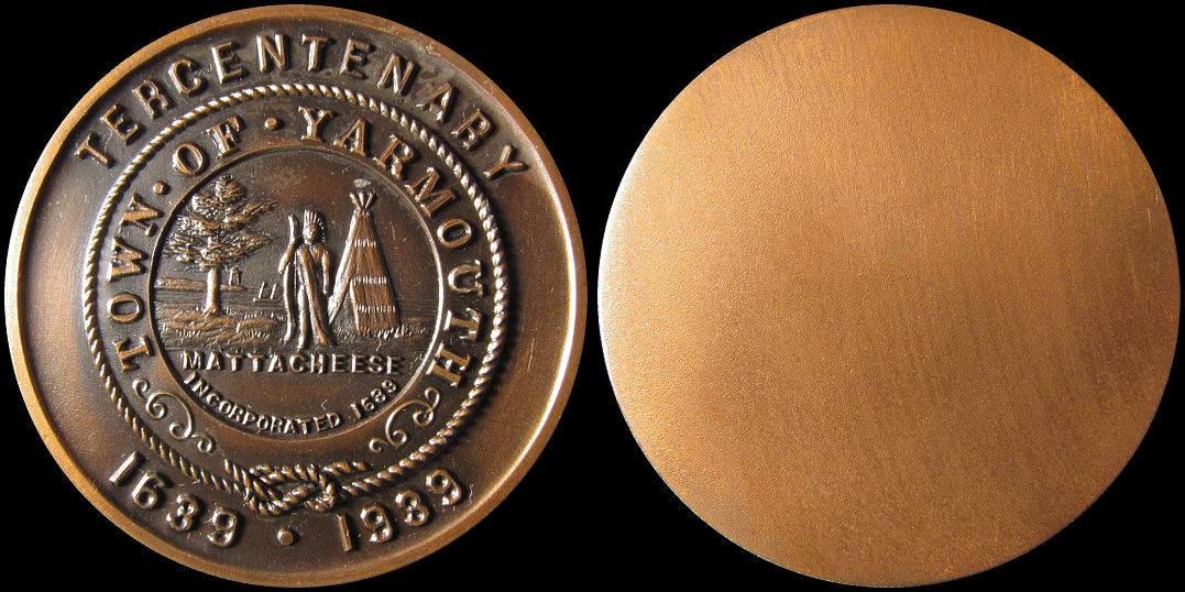 Town of Yarmouth Tercentenary 1639-1939 Mattacheese Medal