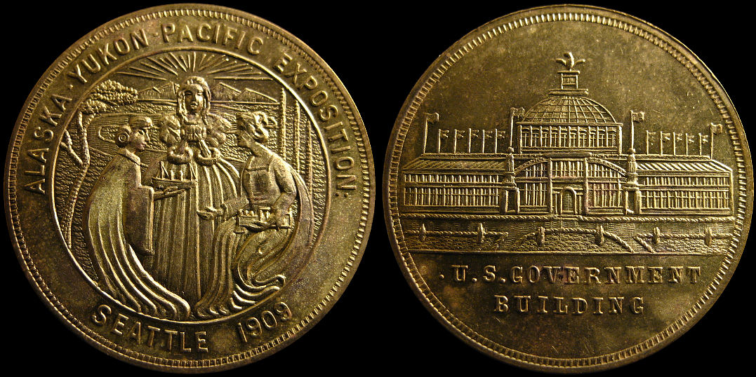 1909 Alaska Yukon Pacific Exposition Three Women Medal