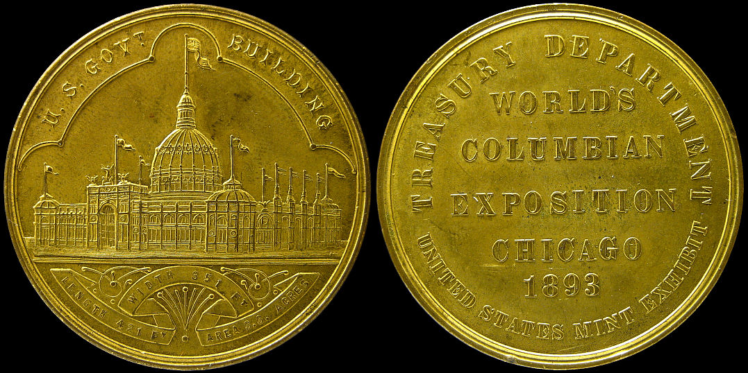 US Treasury Building 1893 HK-154 Chicago Worlds Columbian Exposition